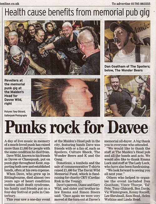 GutterPunk Photography - Sittingbourne News Newspaper